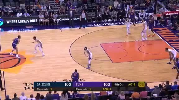 Devin Booker Knocks Down Game-Winning Shot vs. Grizzlies