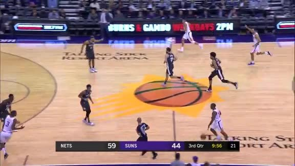 Ariza with the One-Handed Block on Allen