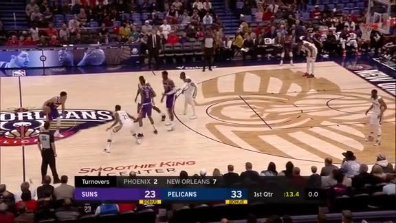Devin Booker Three-Pointer at Pelicans