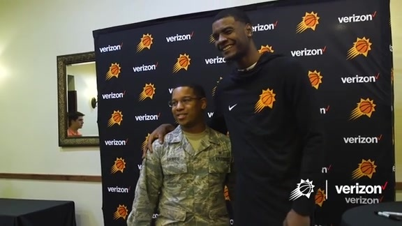 Josh Jackson Visits Luke Air Force Bases