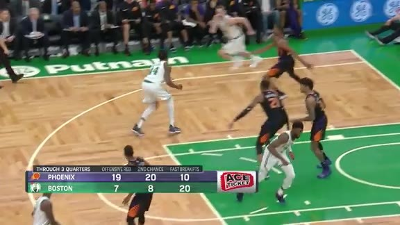 Kelly Oubre Jr. Blocking in Boston
