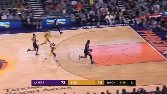 Ayton Slams it Home on the Fast Break vs Lakers