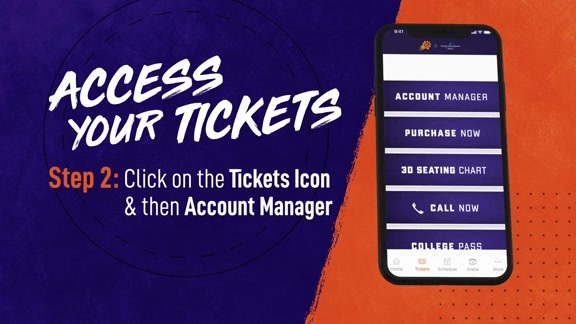 Suns Mobile: Access Your Tickets