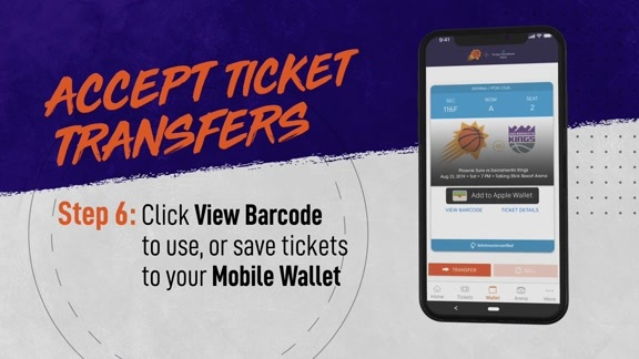 Suns Mobile: Accept Ticket Transfers