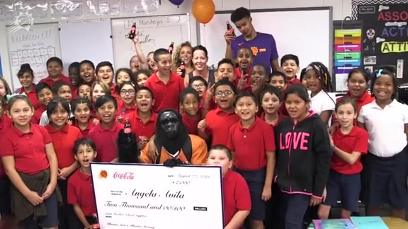 Cam Johnson Helped Deliver a Special Surprise to Three Teachers, Courtesy of the Suns and Coca-Cola