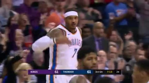 Carmelo Anthony Highlights vs. Kings - MLK Day