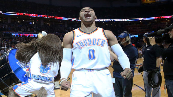 Russell Westbrook Highlights vs. Kings - MLK Day