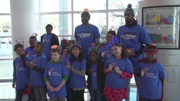 George, Patterson Celebrate National Hat Day With Kids