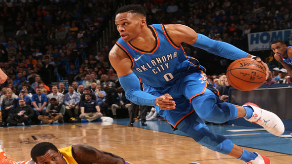 Russell Westbrook Highlights vs. Lakers - 1/17