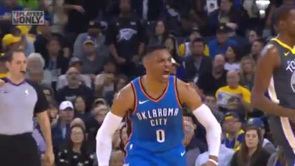 Highlights: Thunder at Warriors  - 2/6