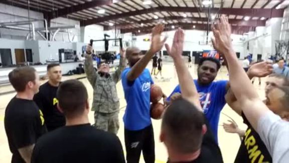 Thunder Salutes Military With Fit Clinic