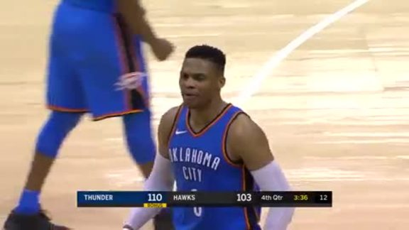 Russell Westbrook Highlights at Hawks - 3/13