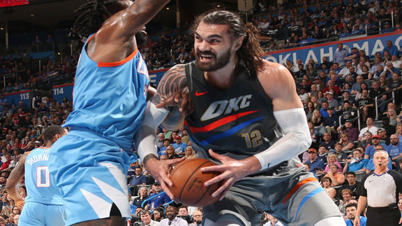 Steven Adams Highlights vs. Clippers - 3/16