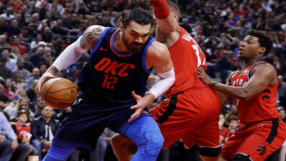 Steven Adams Highlights at Raptors - 3/18