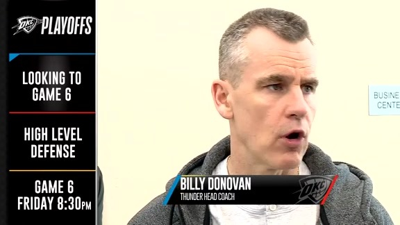 Donovan Talks Defense and Pace for Game 6