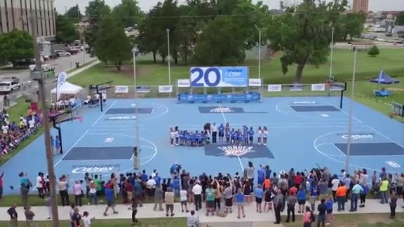 Thunder Unveils 20th Hoops Court
