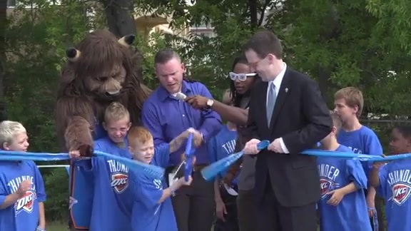 Tulsa YouthWorks Gets Thunder Court Makeover
