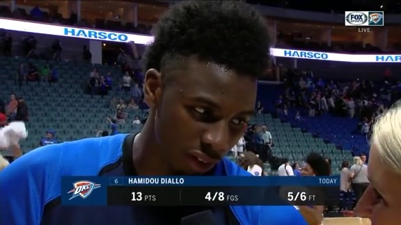 Walkoff Interview: Hamidou Diallo - 10/7