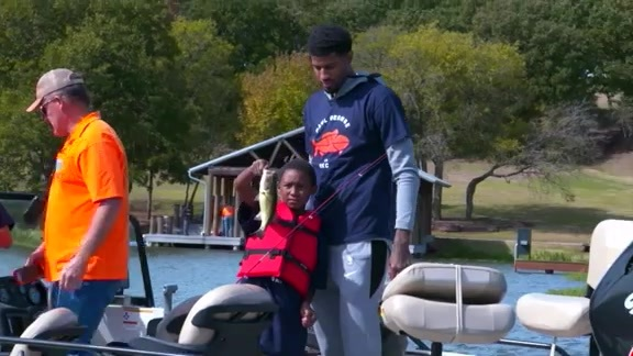 Paul George Takes Students Out to the Lake
