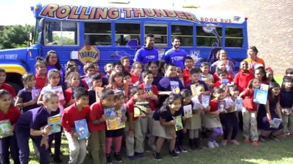 Thunder Delivers Bilingual Books to Students