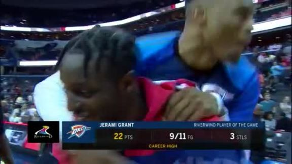 Jerami Grant on the Win in DC