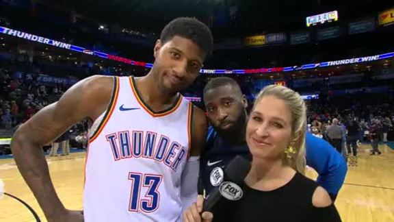 Paul George on the Win