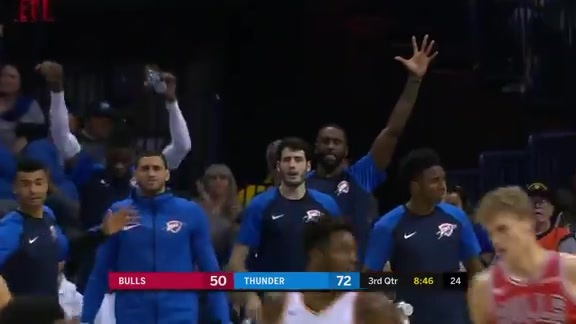 Highlights: Thunder vs. Bulls - 12/17