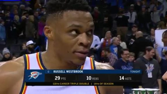 Walkoff Interview: Russell Westbrook - 1/22