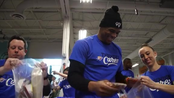 Thunder, Food Bank Team Up