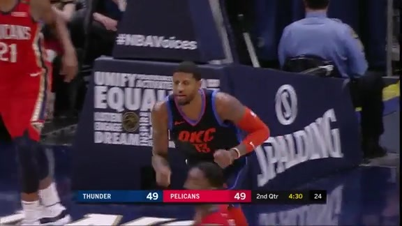 Highlights: Thunder at Pelicans