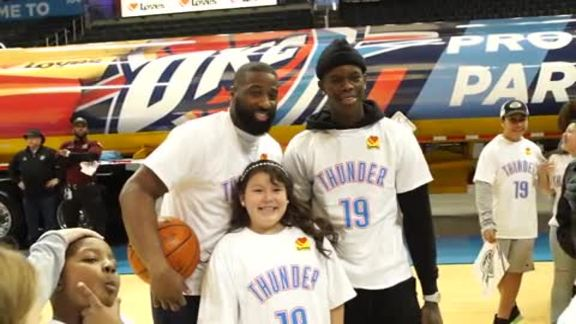 Love's, Thunder Celebrate Partnership at the 'Peake