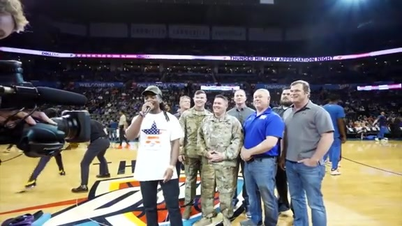 The Stover Family Honored on Military Appreciation Night