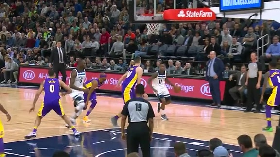 Postgame Report | Wolves Beat Lakers to Go Into Break