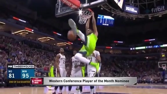 Towns Nominated for Kia Player of the Month