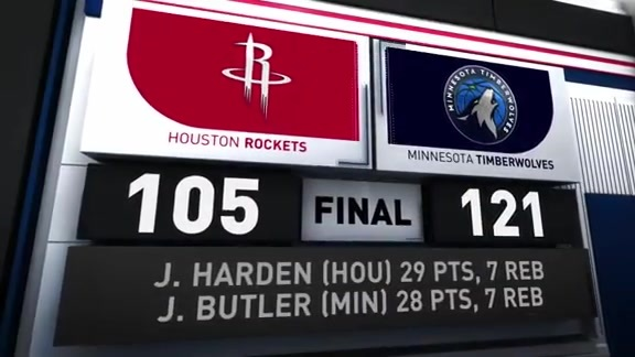 GAME 3 RECAP: Timberwolves 121, Rockets 105