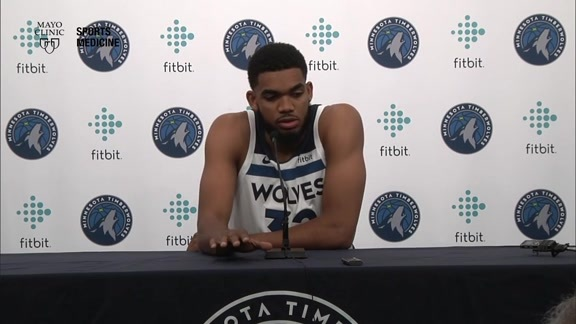 2018 Media Day Press Conference | Karl-Anthony Towns