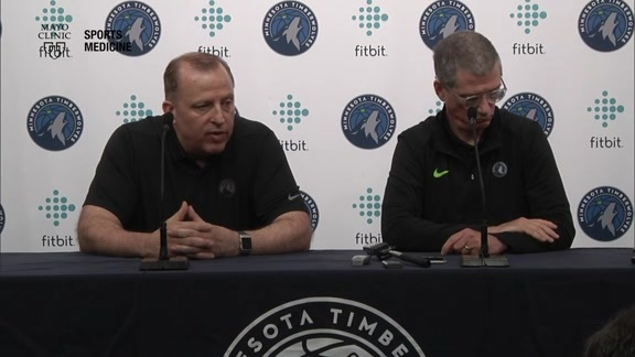 2018 Media Day Press Conference | Tom Thibodeau & Scott Layden