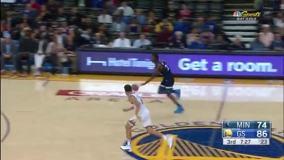 Wiggins With The Steal & Score