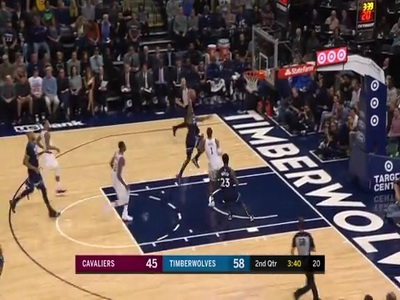 Jeff Teague Absolutely Throws It Down Minnesota Timberwolves
