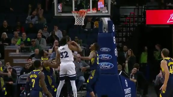 Teague With The Deep Pass To Towns