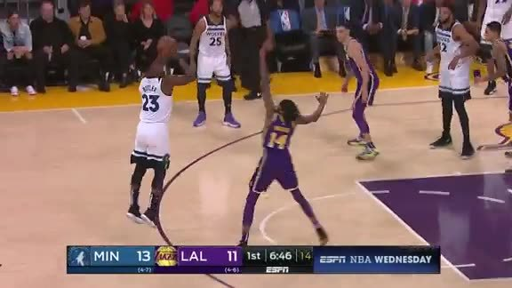 Wolves Hit Franchise-Record 20 3-Pointers vs. Lakers
