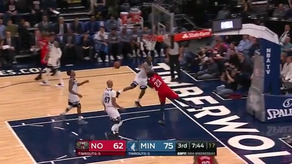 Wiggins Swats Anthony Davis