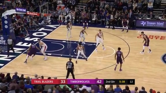 Towns Goes Right At Nurkic