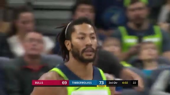 Rose With 22 Points vs. Bulls