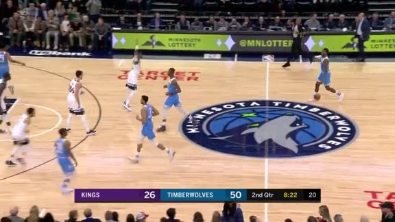 Josh Okogie With The Huge Steal & Slam
