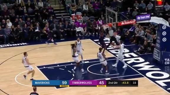 Wiggins With The Slam Over Luka