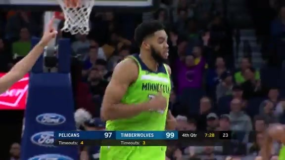 KAT With A Ridiculous Second Effort In The Fourth