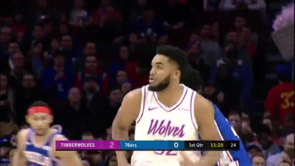 Towns With The Hook Over Embiid