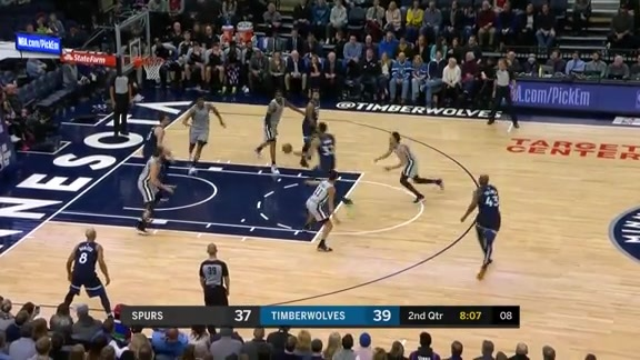 KAT Throws Down A Massive Dunk