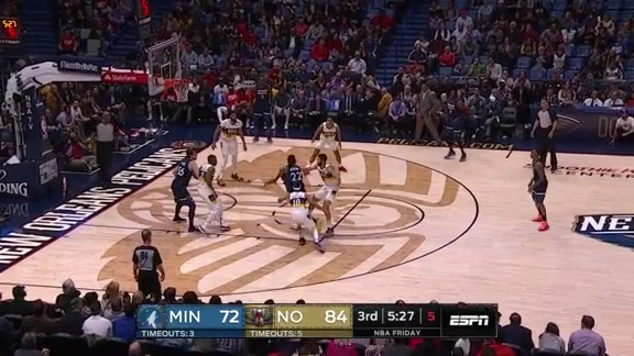 Wiggins Fights Down The Lane And Slams It Home